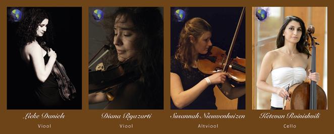 """De vier violisten op PBII - """"Rocket"""""""